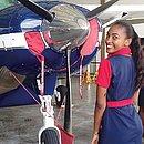 A modelo Aline Souza sonha em ser aeromoça