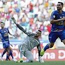 Gilberto perde chance de gol diante de Weverton