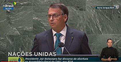 Bolsonaro defende 'tratamento precoce' e ataca lockdown em discurso na ONU