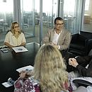 Reuniu na Rede Bahia, com participação da editora-chefe do CORREIO Linda Bezerra (esquerda), definiu apoio