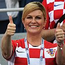 Presidente da Croácia, Kolinda Grabar-Kitarovic tem acompanhado a seleção na arquibancada