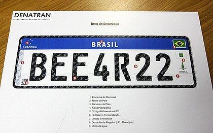 Veículos registrados no Brasil terão de trocar suas placas para seguir o padrão Mercosul