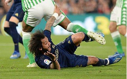 Machucado, o lateral esquerdo Marcelo vai desfalcar o Real Madrid