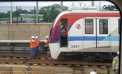 Trem apresentou problema técnico quando ia fazer manobra antes da operação
