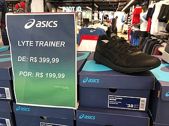 Tênis Lyte Trainer (Asics - Salvador Shopping) de R$ 399,99 por R$ 199,99 (50%)