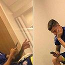 Imagens de Lucca e Ronaldo com o uniforme do Bahia estão circulando nas redes sociais