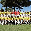 Seleção brasileira posa para foto oficial antes da Copa do Mundo