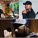 No sentido horário: Forró Red Light, Barões da Pisadinha e o autor da mixtape, Telefunksoul