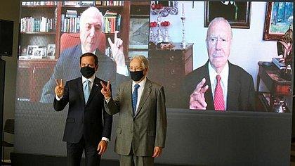 Doria reúne ex-presidentes em 'ato institucional' a favor da vacinação