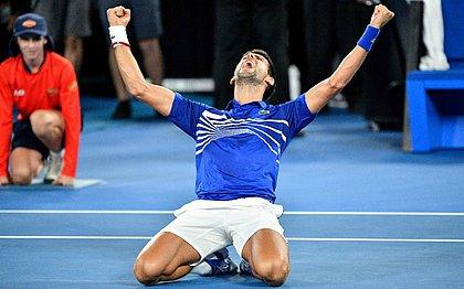 Djokovic comemora bastante após confirmar o título na Austrália