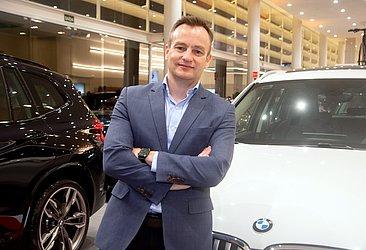 Aksel Krieger, CEO do BMW Group Brasil, visitou a concessionária Haus