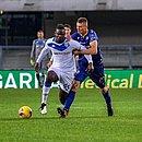 Balotelli durante a partida contra o Verona