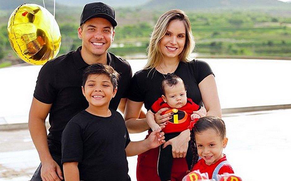 Filhos de Wesley Safadão estão internados com pneumonia