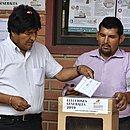 O presidente Evo Morales deve ir para seu quarto mandato