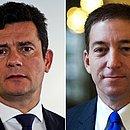 O ex-juiz Sergio Moro e o jornalista Glenn Greenwald