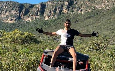 Diego Costa curte férias na Chapada Diamantina