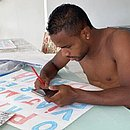 Atacante Élber prepara cartaz para mandar recado à torcida do Bahia nas redes sociais