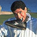 Maradona com a taça da Copa do Mundo de 1986