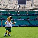 Mascote da Copa América 2019, Zizito visitou a Fonte Nova
