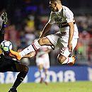 Vitória não conseguiu superar o São Paulo e, com um a menos, foi derrotado