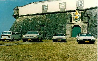 Parte da primeira frota de carros da LM Frotas, quando a empresa surgiu no final da década de 1970.