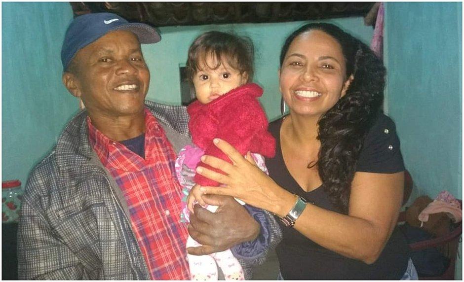 Dona Maria de Lourdes e seu Luiz Santos fizeram união estável após 38 anos de relacionamento