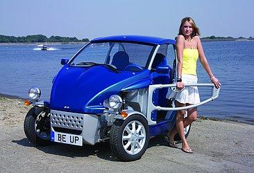 A inglesa Reliant sempre adota um visual diferente em seus modelos, como o Be Up
