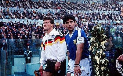 Na final da Copa de 1990, a Argentina foi superada pela Alemanha Ocidental