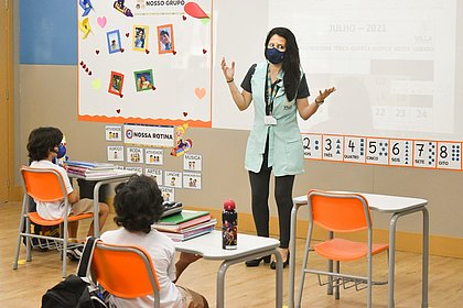 Retomada: escola de Camaçari tem primeiro dia de aula presencial