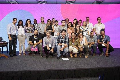Equipes das startups comemoraram conquistas do Acelere[se]