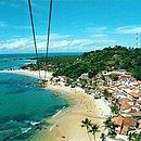 Tirolesa é um dos atrativos de Morro de São Paulo
