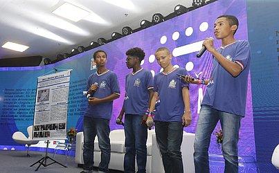 O Projeto Localiza Fácil foi a ideia que conquistou o 5º lugar, representando a Escola Mestre Paulo dos Anjos - Equipe Flash Light