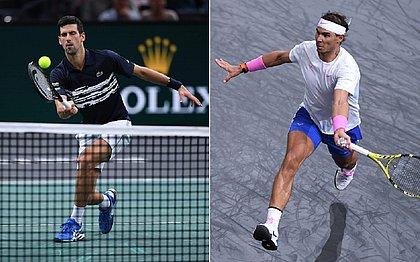 Djokovic e Nadal estreiam com vitória no Masters 1000 de Paris