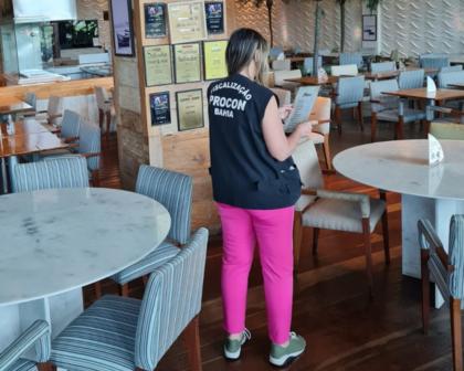Procon-BA lança operação de fiscalização de bares e restaurantes de Salvador