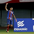Gilberto marcou o primeiro gol do Bahia no jogo