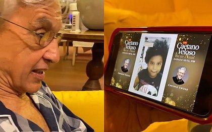 Criança baiana encanta Caetano Veloso e garante música na Live de Natal