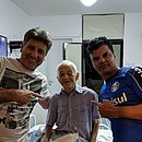 Renato Gaúcho e Alexandre Mendes visitam Adherbal Amaral