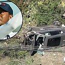 O carro de Tiger Woods ficou destruído após o acidente