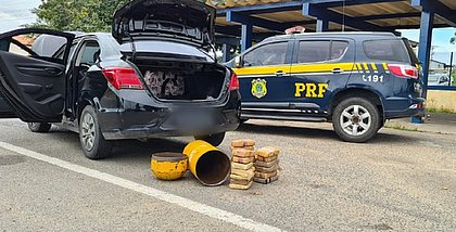 Feira: motorista é preso com maconha escondida no cilindro de gás do carro