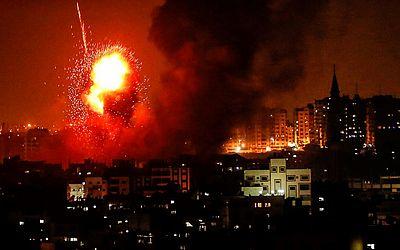 Bombardeio israelense em Gaza.