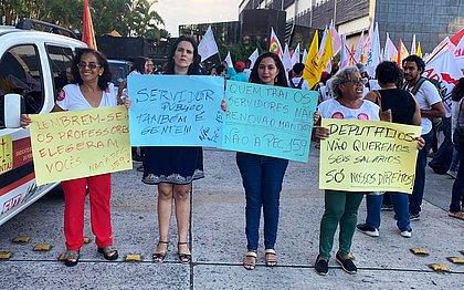 Servidores baianos protestam na Assembleia contra votação da PEC da Previdência