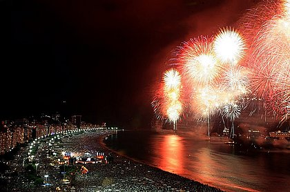 Revéillon em Copacabana é um dos mais tradicionais do Brasil e não foi celebrado em 2021