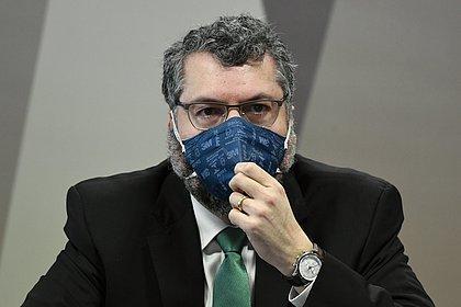 Ernesto Araújo aciona STF contra quebra de sigilo aprovada pela CPI da Covid