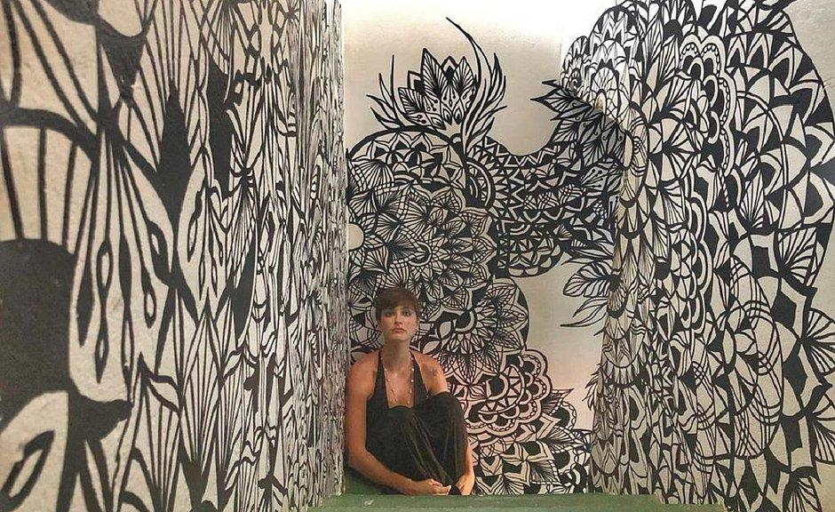 Marina Baggio trabalha com arte há cinco anos