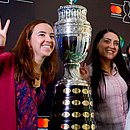 Troféu da Copa América fez tour na Colômbia nesta semana