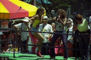 Com Ivete Sangalo no Carnaval 2002