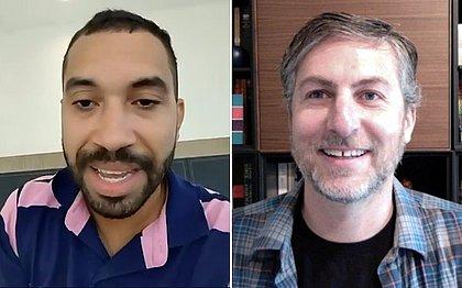 O economista Gilberto Nogueira e o professor Claudio Ferraz