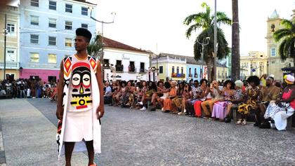 5ª edição do Afro Fashion Day lota Terreiro de Jesus, no Pelourinho