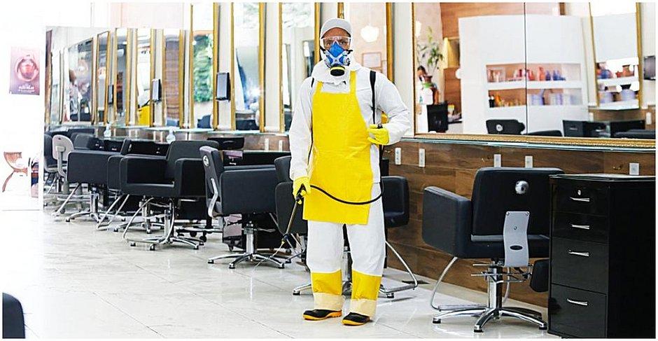 Higienização do espaço do salão já foi feito