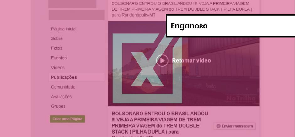 Uso de trem de 'dois andares' no Brasil não tem relação com governo Bolsonaro